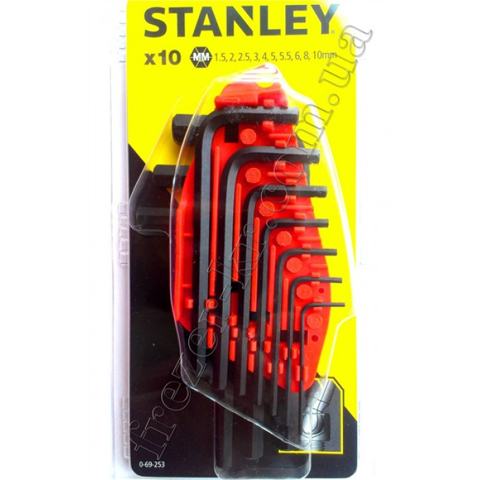 Набор шестигранных ключей 1,5-10 мм 10 шт. (STANLEY)