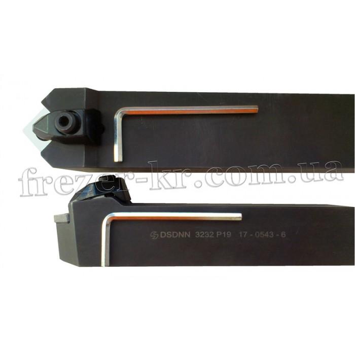 Резец DSDNN 3232 P19 проходной прямой 32х32х170 с механическим креплением 4-гранной пластины