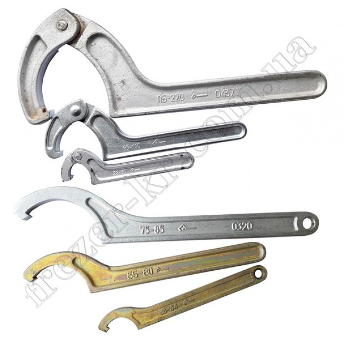 Ключ шарнирный КГШ 22-60 для круглых шлицевых гаек - фото 1