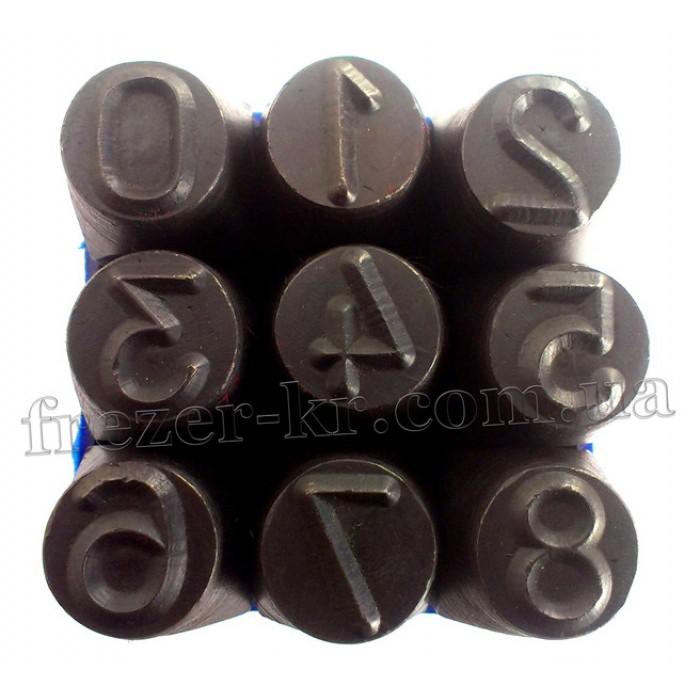 Клейма цифровые 12 мм ударные стальные (Автотехника) - фото 1