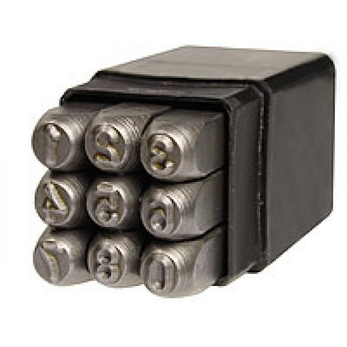 Клейма цифровые 4 мм ударные стальные (GROZ) - фото 1