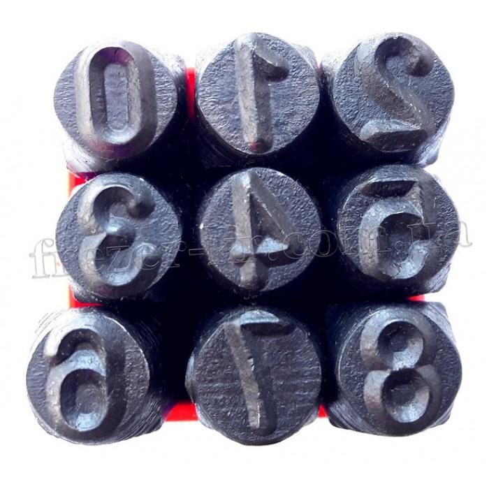 Клейма цифровые 8 мм ударные стальные (YATO)