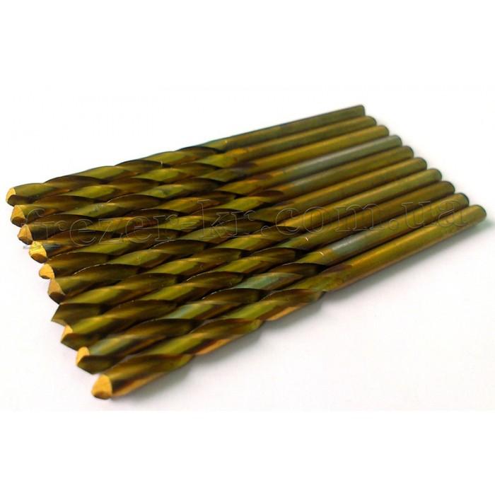 Сверло ц/х Ф 4,5 Р18 (ЗИТ) покрытое