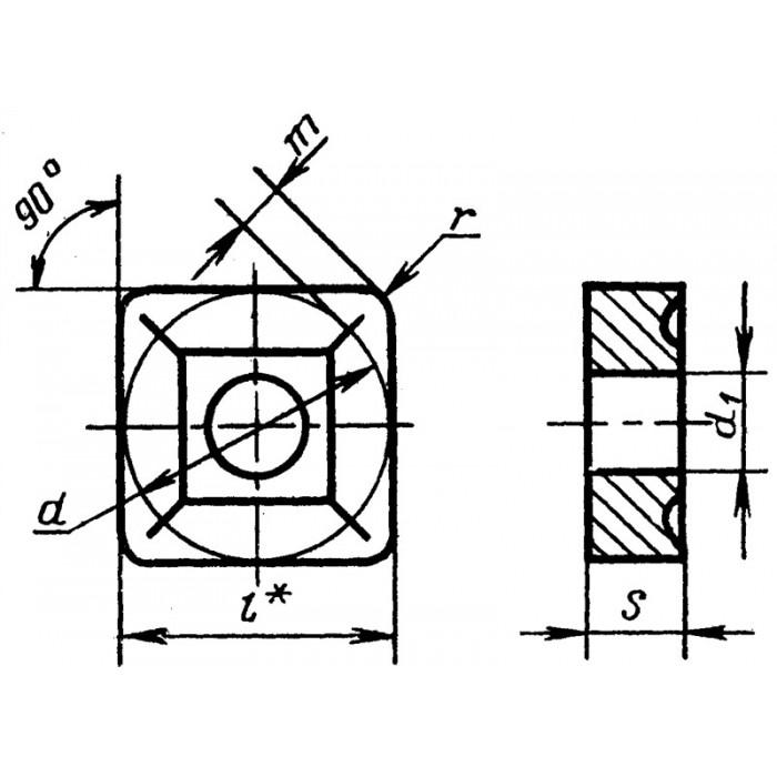 Пластина твердосплавная 03114-120408 НТН30