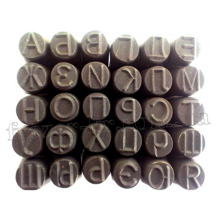 Клейма буквенные 3 мм кириллица ударные стальные (Автотехника)