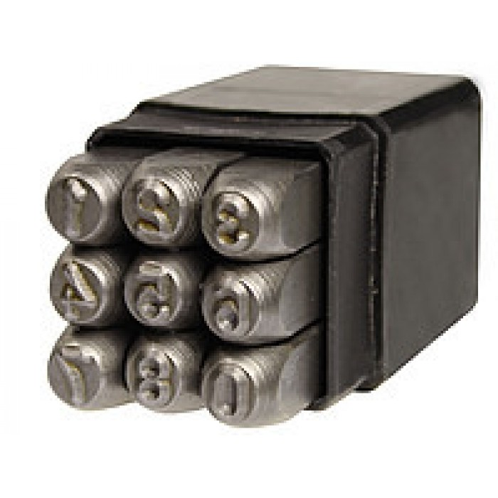 Клейма цифровые 2 мм ударные стальные (GROZ)