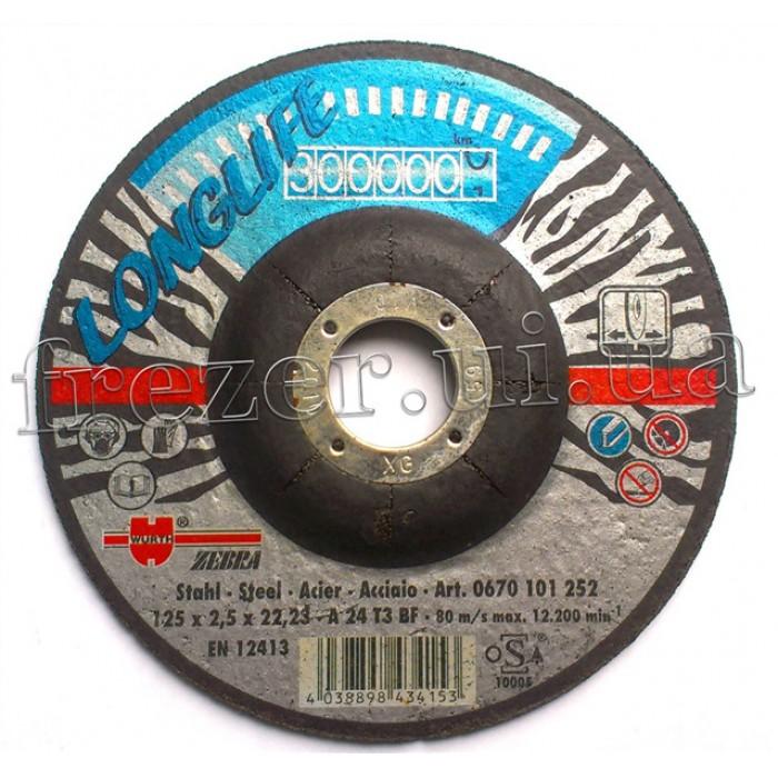 Круг отрезной 125*2,5*22 по металлу (WURTH) Longlife