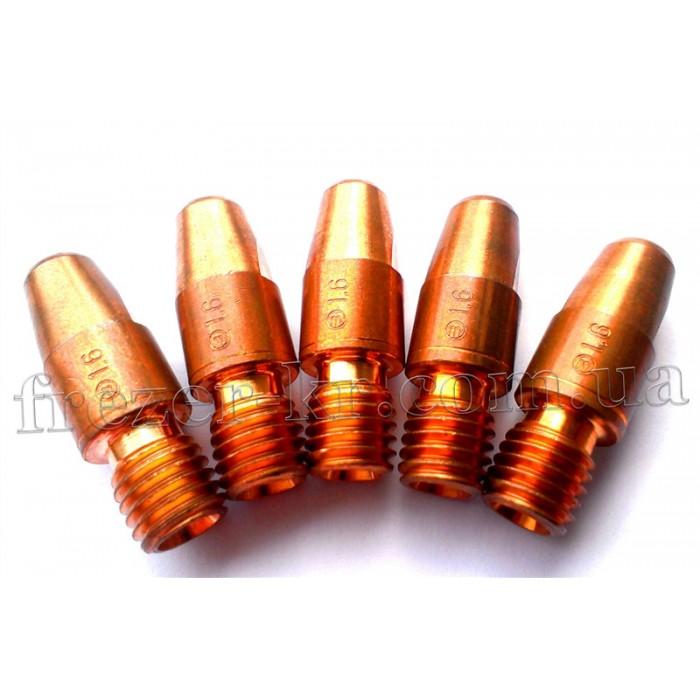 Наконечник сварочный М10х1,6 CuCrZr для горелок MIG/MAG (Abicor Binzel)