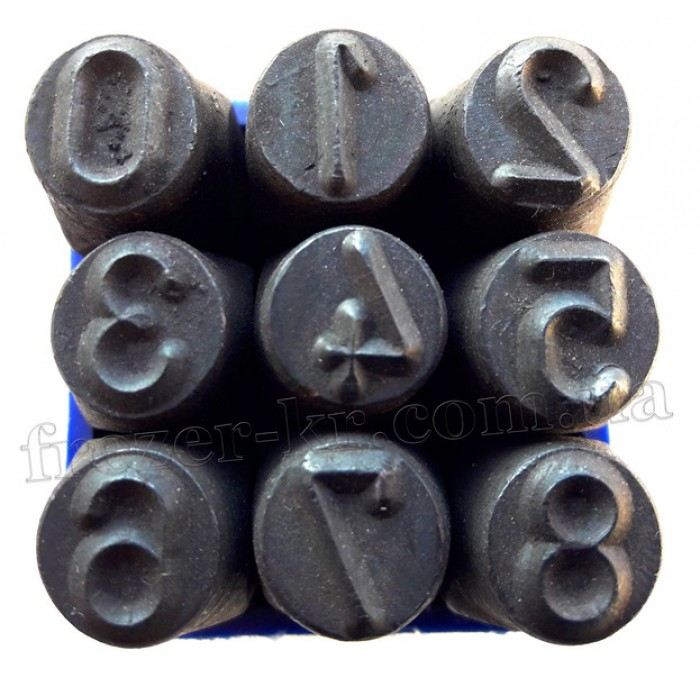 Клейма цифровые 8 мм ударные стальные (Автотехника)