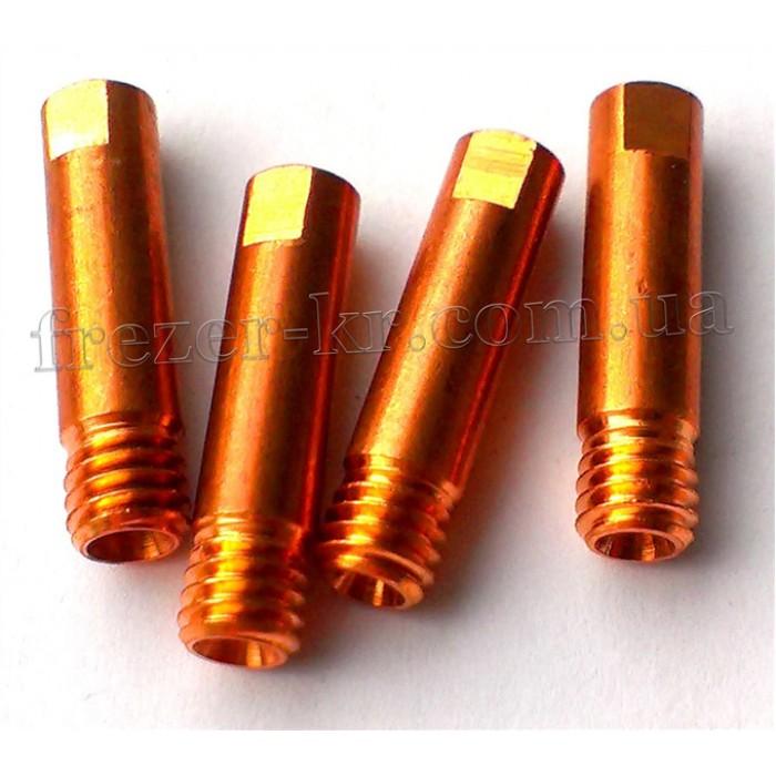 Наконечник сварочный М6х1,0 E-Cu для горелок MIG/MAG (Abicor Binzel)