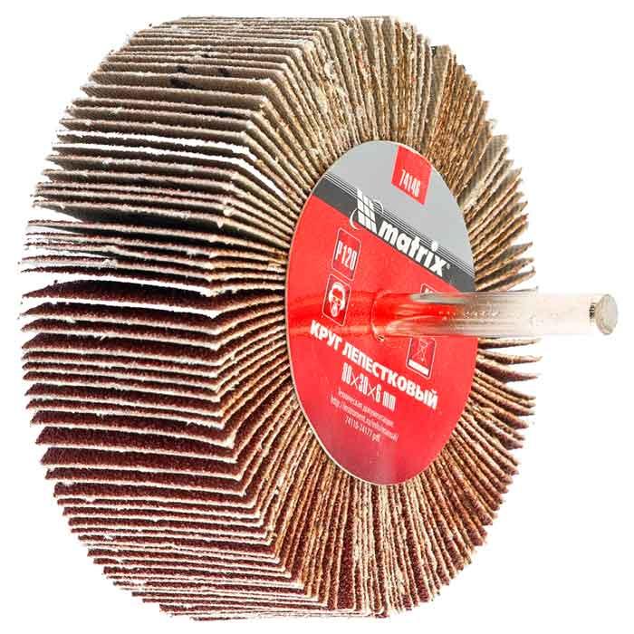 Головка шлифовальная лепестковая 80х30х6 К40 (MTX)