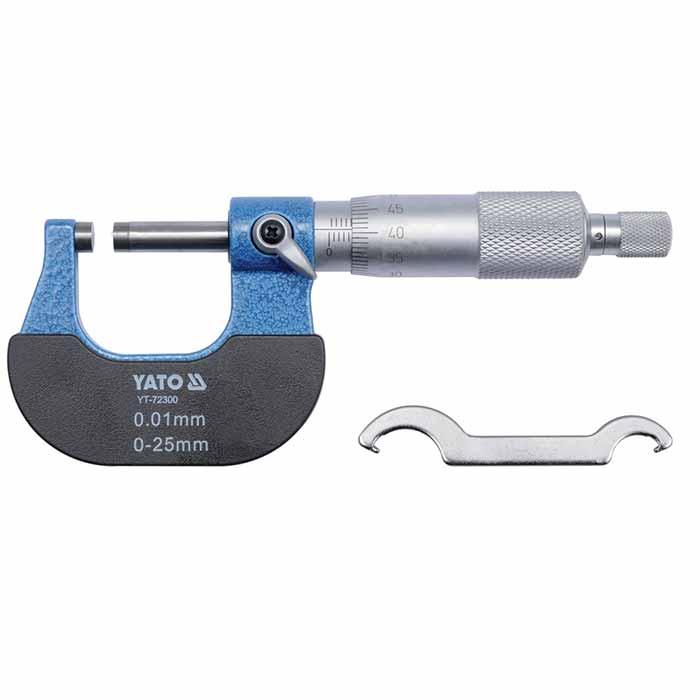 Микрометр гладкий МК-25 (0-25) 0,01 (YATO)