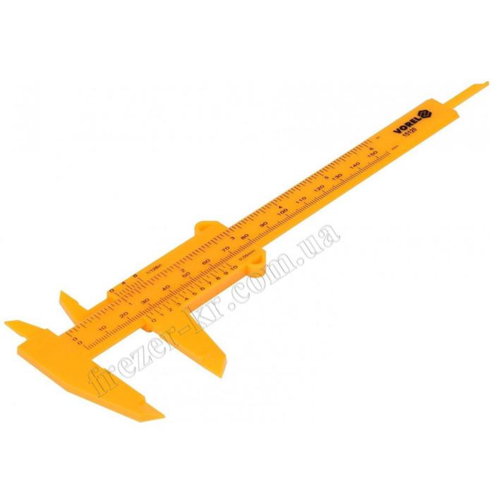 Штангенциркуль пластиковый ШЦ-I-150 0,05 (Vorel) - фото 1