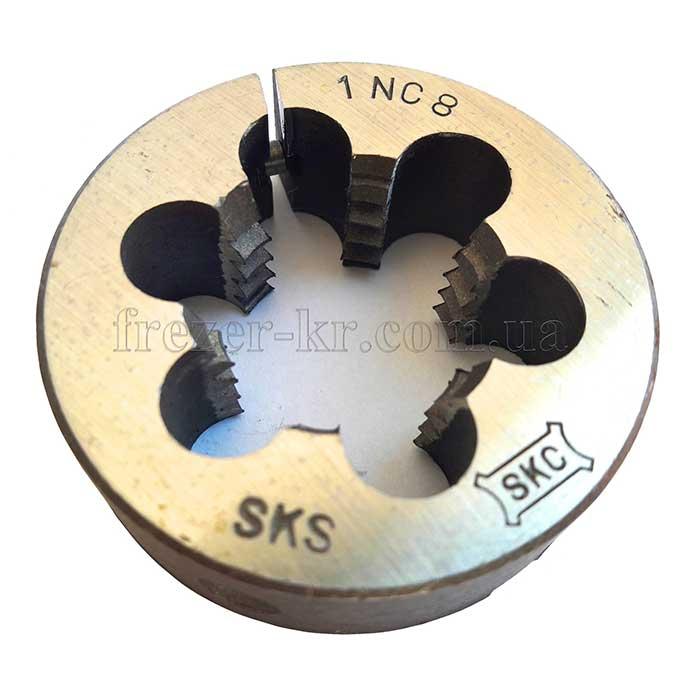 Плашка дюймовая UNC 7/16''-14 нитей разрезная (SKC)