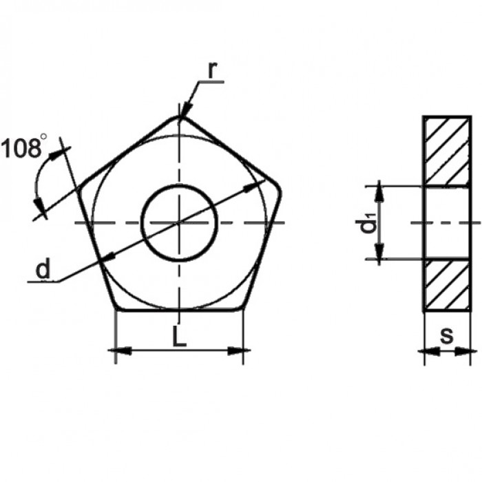 Пластина твердосплавная 10113-110408 НТН30 (толщина 6,6 мм)