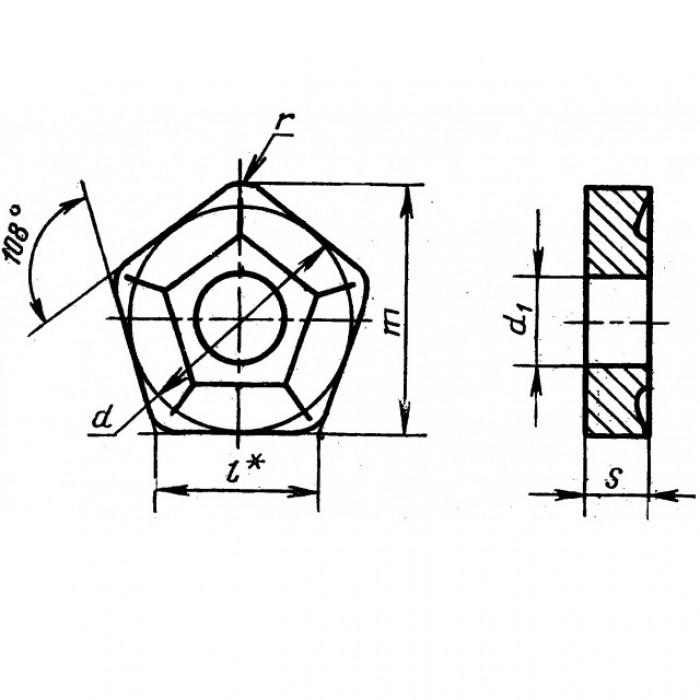 Пластина твердосплавная 10114-110408 НТН30 покрытая