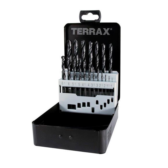 Набор сверл Ф 1,0-10,0 мм (19 шт.) HSS TERRAX